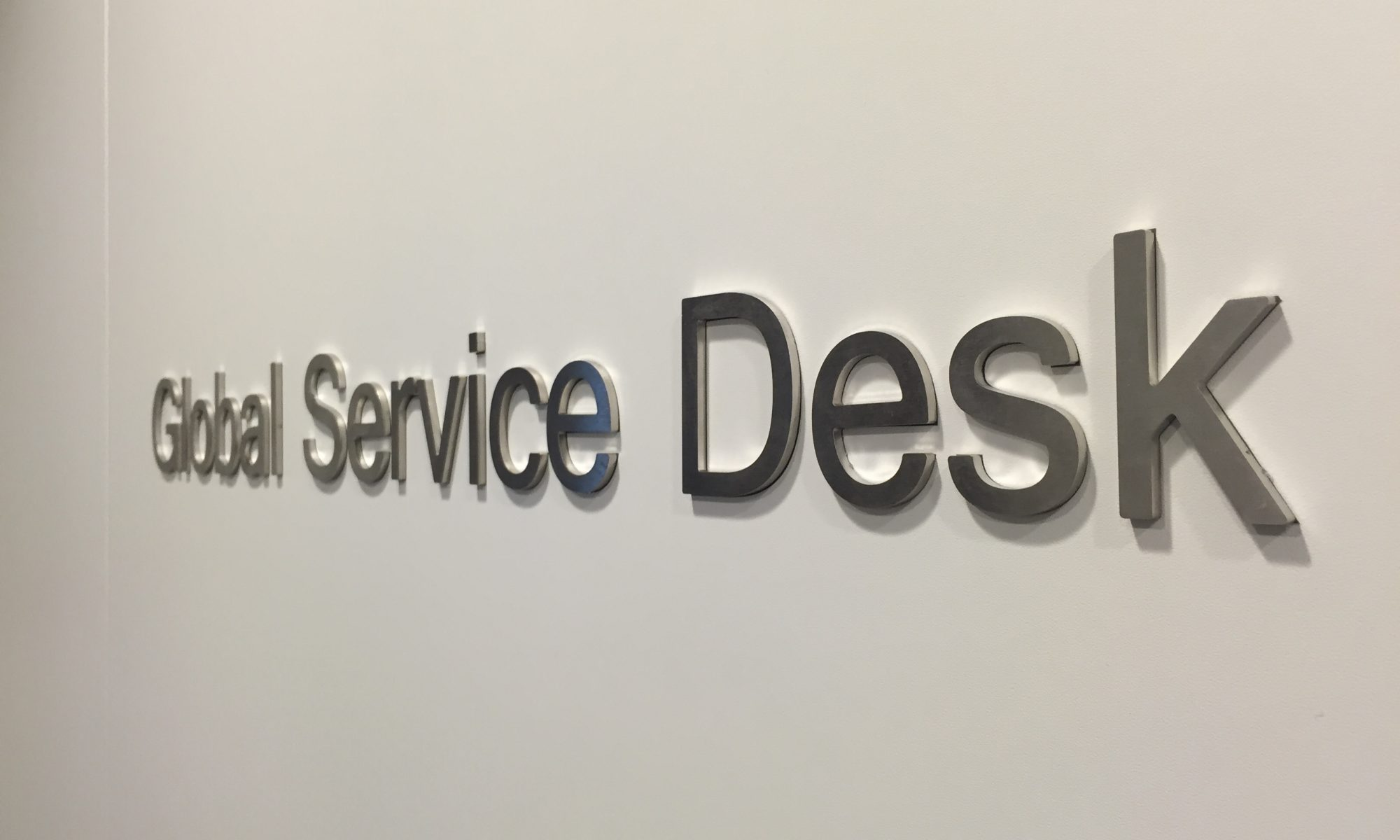 Stainless Steel cut lettering