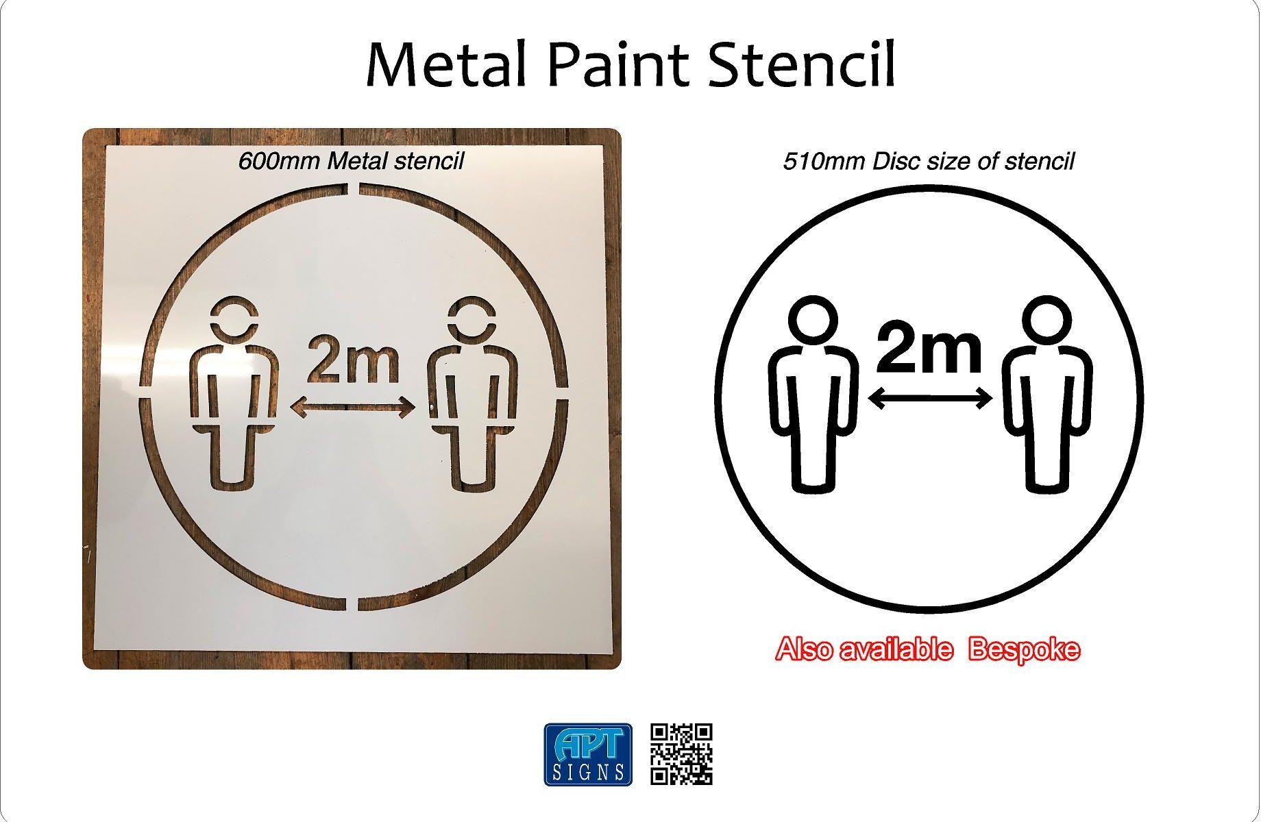Covid 19 Paint Stencil Metal