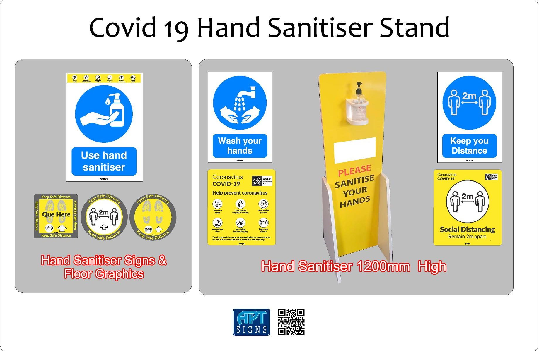 Covid 19 Hand Sanitiser Stand